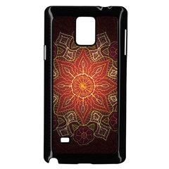 Floral Kaleidoscope Samsung Galaxy Note 4 Case (Black)