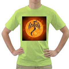 Dragon Fire Monster Creature Green T-Shirt
