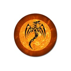 Dragon Fire Monster Creature Magnet 3  (Round)
