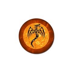 Dragon Fire Monster Creature Golf Ball Marker (4 pack)