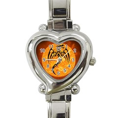 Dragon Fire Monster Creature Heart Italian Charm Watch