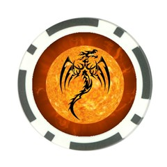 Dragon Fire Monster Creature Poker Chip Card Guard