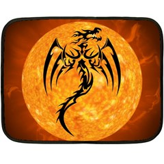Dragon Fire Monster Creature Double Sided Fleece Blanket (Mini)