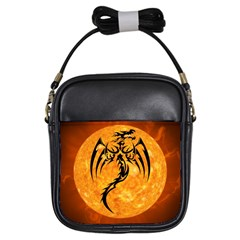 Dragon Fire Monster Creature Girls Sling Bags