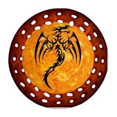 Dragon Fire Monster Creature Ornament (Round Filigree)