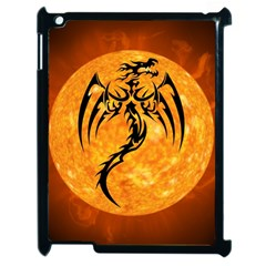 Dragon Fire Monster Creature Apple iPad 2 Case (Black)