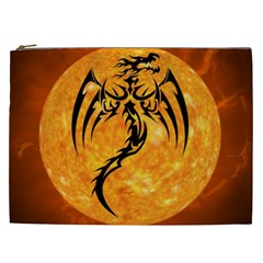 Dragon Fire Monster Creature Cosmetic Bag (XXL)