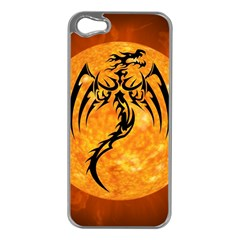 Dragon Fire Monster Creature Apple iPhone 5 Case (Silver)
