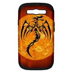 Dragon Fire Monster Creature Samsung Galaxy S III Hardshell Case (PC+Silicone)