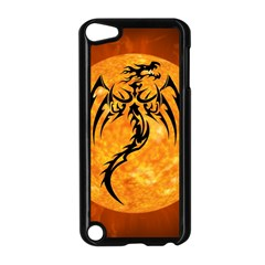 Dragon Fire Monster Creature Apple iPod Touch 5 Case (Black)
