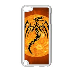Dragon Fire Monster Creature Apple iPod Touch 5 Case (White)