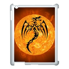 Dragon Fire Monster Creature Apple iPad 3/4 Case (White)