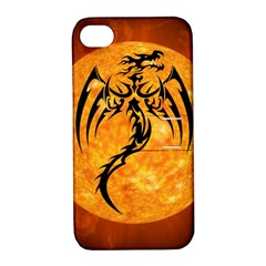 Dragon Fire Monster Creature Apple iPhone 4/4S Hardshell Case with Stand