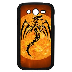 Dragon Fire Monster Creature Samsung Galaxy Grand DUOS I9082 Case (Black)