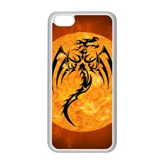 Dragon Fire Monster Creature Apple iPhone 5C Seamless Case (White)