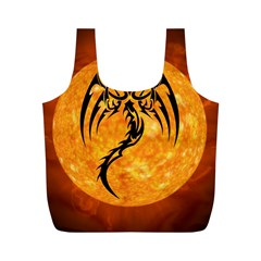 Dragon Fire Monster Creature Full Print Recycle Bags (M)