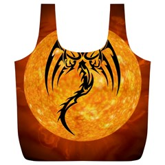 Dragon Fire Monster Creature Full Print Recycle Bags (L)