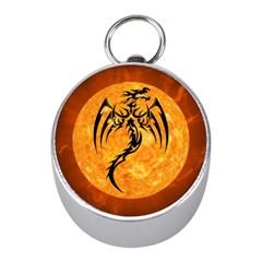Dragon Fire Monster Creature Mini Silver Compasses
