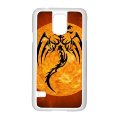 Dragon Fire Monster Creature Samsung Galaxy S5 Case (White)