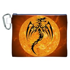 Dragon Fire Monster Creature Canvas Cosmetic Bag (xxl)