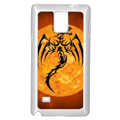 Dragon Fire Monster Creature Samsung Galaxy Note 4 Case (white)