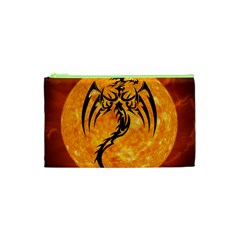 Dragon Fire Monster Creature Cosmetic Bag (xs)