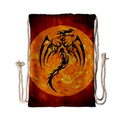 Dragon Fire Monster Creature Drawstring Bag (Small)