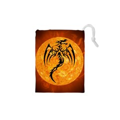 Dragon Fire Monster Creature Drawstring Pouches (XS)