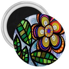Folk Art Flower 3  Magnets