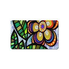 Folk Art Flower Magnet (Name Card)