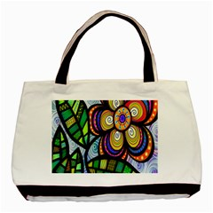 Folk Art Flower Basic Tote Bag