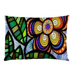 Folk Art Flower Pillow Case