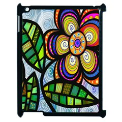 Folk Art Flower Apple iPad 2 Case (Black)