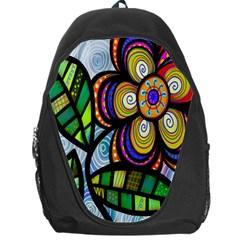 Folk Art Flower Backpack Bag