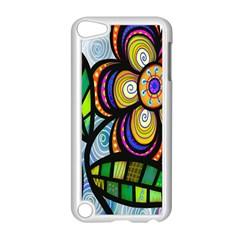 Folk Art Flower Apple iPod Touch 5 Case (White)