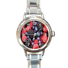 Forest Fruit Round Italian Charm Watch