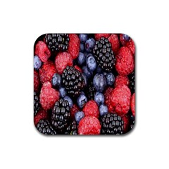Forest Fruit Rubber Square Coaster (4 pack)