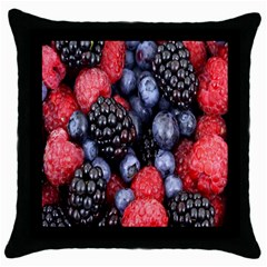Forest Fruit Throw Pillow Case (Black)