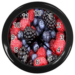 Forest Fruit Wall Clocks (Black)