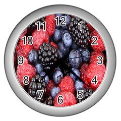 Forest Fruit Wall Clocks (Silver)