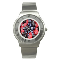 Forest Fruit Stainless Steel Watch