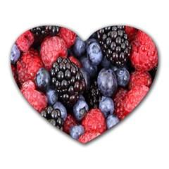 Forest Fruit Heart Mousepads