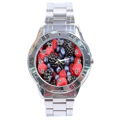 Forest Fruit Stainless Steel Analogue Watch