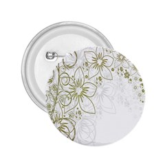 Flowers Background Leaf Leaves 2.25  Buttons