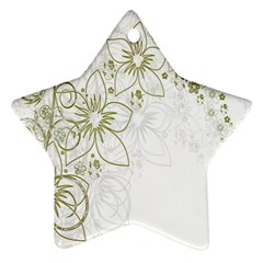 Flowers Background Leaf Leaves Ornament (Star)