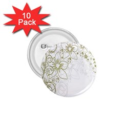Flowers Background Leaf Leaves 1.75  Buttons (10 pack)