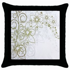 Flowers Background Leaf Leaves Throw Pillow Case (Black)