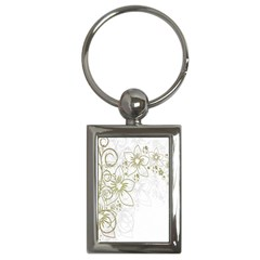 Flowers Background Leaf Leaves Key Chains (Rectangle)