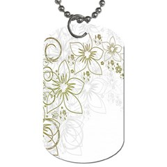 Flowers Background Leaf Leaves Dog Tag (two Sides)