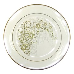 Flowers Background Leaf Leaves Porcelain Plates